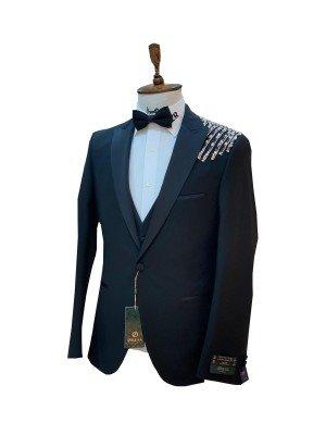 Мужской Торжественный костюм 3-ка DELMONT 6090-1 ТУРЦИЯ
