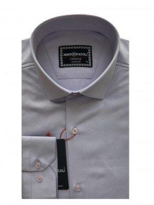 Мужская рубашка длинный рукав NINO PACOLI 3030CR_SATIN ТУРЦИЯ