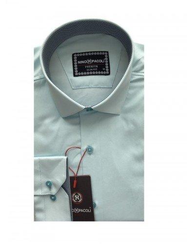Мужская рубашка длинный рукав NINO PACOLI 3032CR_SATIN(2) ТУРЦИЯ