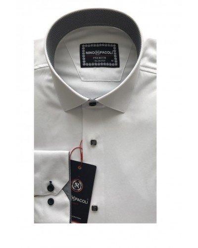 Мужская рубашка длинный рукав NINO PACOLI 3033CR_SATIN(3) ТУРЦИЯ