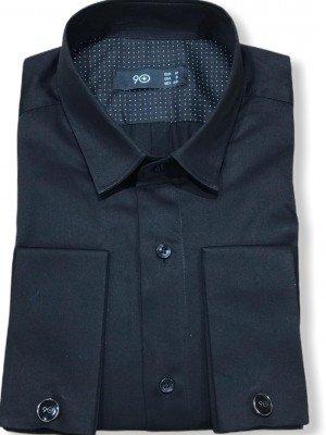 Мужская рубашка длинный рукав PLUSNINETY PN7074-BL ТУРЦИЯ
