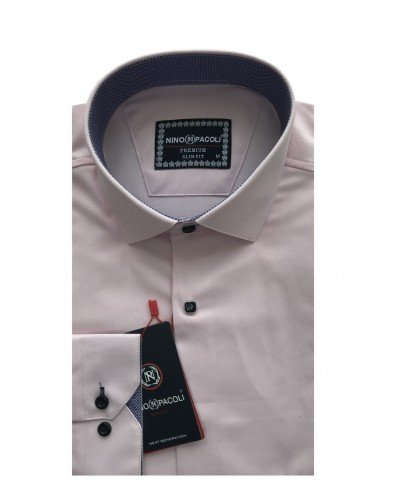 Мужская рубашка длинный рукав NINO PACOLI 3033CR_SATIN(4) ТУРЦИЯ