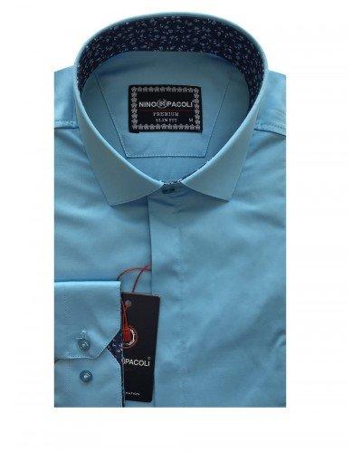 Мужская рубашка длинный рукав NINO PACOLI 7044CR_SATIN(3) ТУРЦИЯ