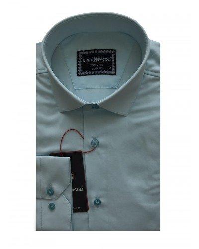 Мужская рубашка длинный рукав NINO PACOLI 3030CR_SATIN(3) ТУРЦИЯ