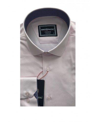 Мужская рубашка длинный рукав NINO PACOLI 3032CR_SATIN(4) ТУРЦИЯ