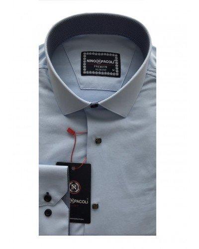 Мужская рубашка длинный рукав NINO PACOLI 3033CR_SATIN(5) ТУРЦИЯ