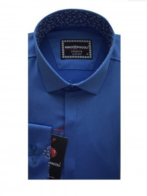 Мужская рубашка длинный рукав NINO PACOLI 7044CR_SATIN(4) ТУРЦИЯ