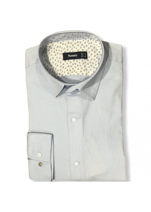 Мужская рубашка длинный рукав PLUSNINETY PN7071-B ТУРЦИЯ