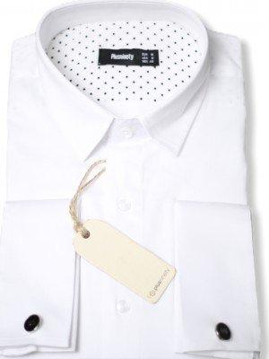Мужская рубашка длинный рукав PLUSNINETY PN7074-W ТУРЦИЯ