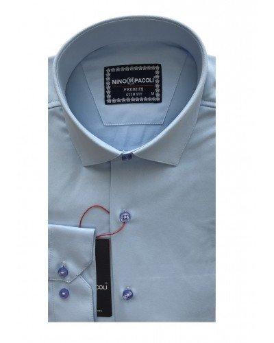 Мужская рубашка длинный рукав NINO PACOLI 3030CR_SATIN(4) ТУРЦИЯ
