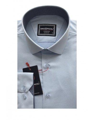 Мужская рубашка длинный рукав NINO PACOLI 3032CR_SATIN(5) ТУРЦИЯ