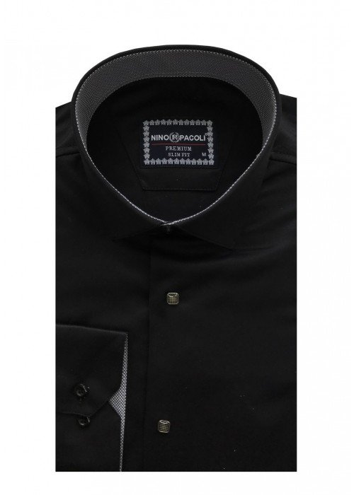 Мужская рубашка длинный рукав NINO PACOLI 3033CR_SATIN(6) ТУРЦИЯ