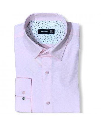 Мужская рубашка длинный рукав PLUSNINETY PN7071-V ТУРЦИЯ