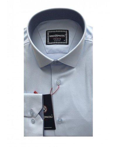 Мужская рубашка длинный рукав NINO PACOLI 3032CR_SATIN(6) ТУРЦИЯ