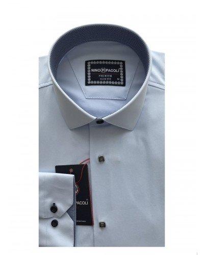 Мужская рубашка длинный рукав NINO PACOLI 3033CR_SATIN(7) ТУРЦИЯ