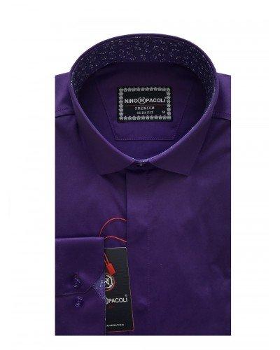 Мужская рубашка длинный рукав NINO PACOLI 7044CR_SATIN(6) ТУРЦИЯ