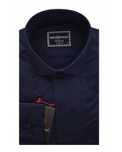 Мужская рубашка длинный рукав NINO PACOLI 7045CR_SATIN ТУРЦИЯ