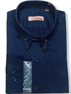 Мужская рубашка длинный рукав PLUSNINETY PN7075-M ТУРЦИЯ