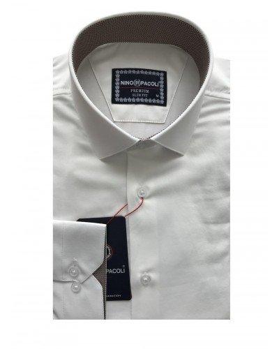 Мужская рубашка длинный рукав NINO PACOLI 3032CR_SATIN(7) ТУРЦИЯ