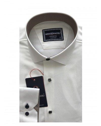 Мужская рубашка длинный рукав NINO PACOLI 3033CR_SATIN(8) ТУРЦИЯ