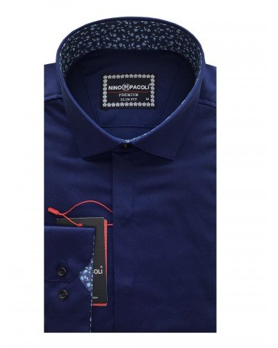 Мужская рубашка длинный рукав NINO PACOLI 7044CR_SATIN(7) ТУРЦИЯ
