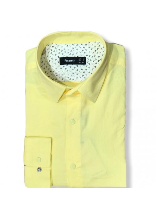 Мужская рубашка длинный рукав PLUSNINETY PN7071-Y ТУРЦИЯ
