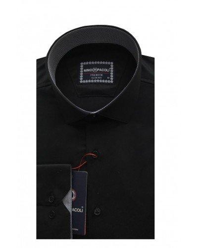 Мужская рубашка длинный рукав NINO PACOLI 3032CR_SATIN(8) ТУРЦИЯ