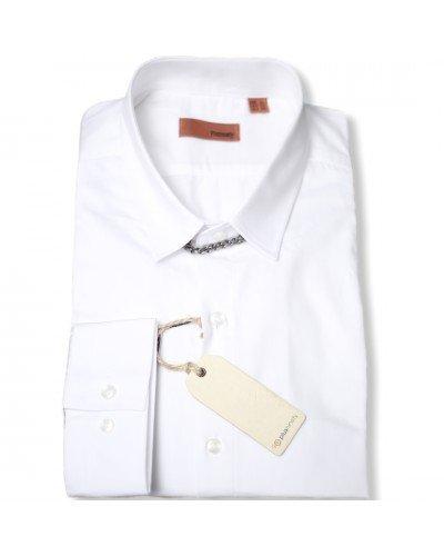 Мужская рубашка длинный рукав PLUSNINETY PN7076-W ТУРЦИЯ