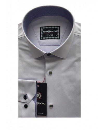 Мужская рубашка длинный рукав NINO PACOLI 3033CR_SATIN(10) ТУРЦИЯ