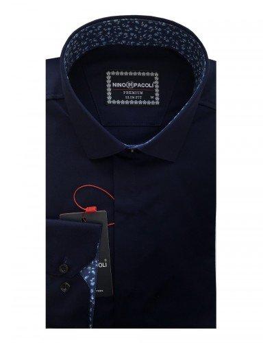Мужская рубашка длинный рукав NINO PACOLI 7044CR_SATIN(9) ТУРЦИЯ