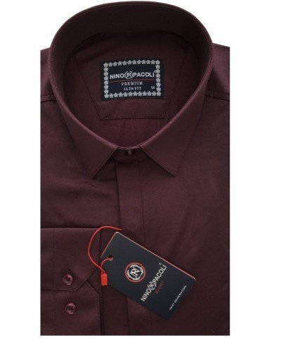 Мужская рубашка длинный рукав NINO PACOLI 7045CR_SATIN(4) ТУРЦИЯ