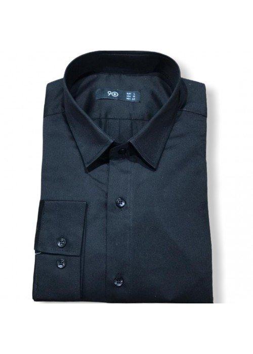 Мужская рубашка длинный рукав PLUSNINETY PN7073-BL ТУРЦИЯ