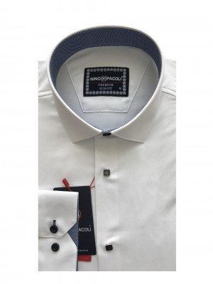 Мужская рубашка длинный рукав NINO PACOLI 3033CR_SATIN(11) ТУРЦИЯ