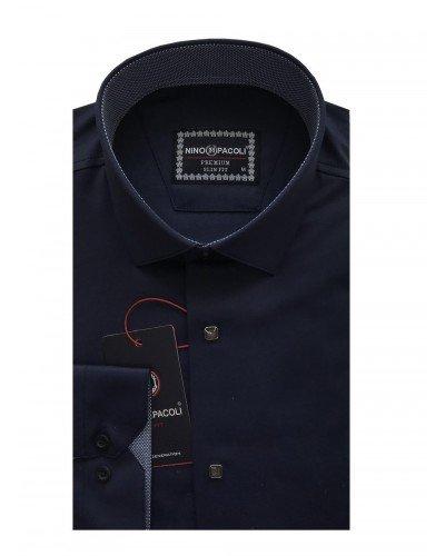 Мужская рубашка длинный рукав NINO PACOLI 3033CR_SATIN ТУРЦИЯ
