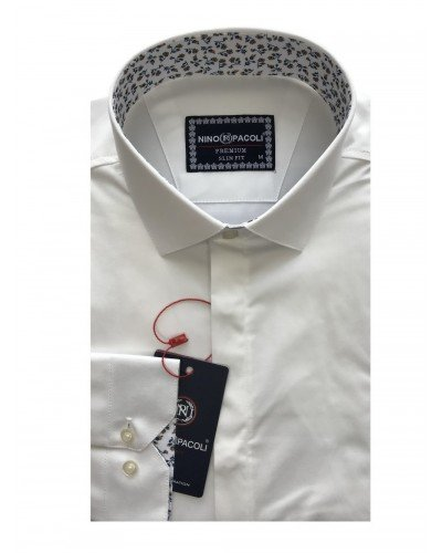 Мужская рубашка длинный рукав NINO PACOLI 7044CR_SATIN(10) ТУРЦИЯ