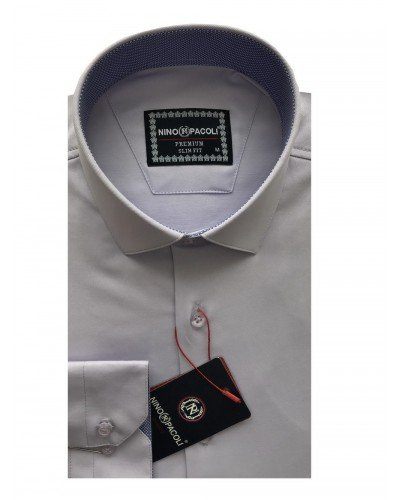 Мужская рубашка длинный рукав NINO PACOLI 3032CR_SATIN ТУРЦИЯ