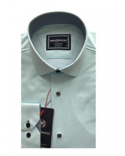 Мужская рубашка длинный рукав NINO PACOLI 3033CR_SATIN(2) ТУРЦИЯ