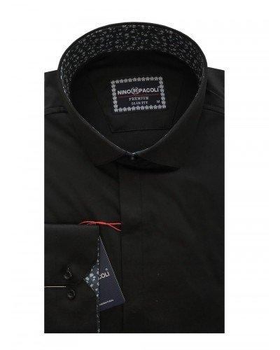 Мужская рубашка длинный рукав NINO PACOLI 7044CR_SATIN(11) ТУРЦИЯ