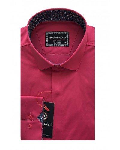Мужская рубашка длинный рукав NINO PACOLI 7044CR_SATIN ТУРЦИЯ