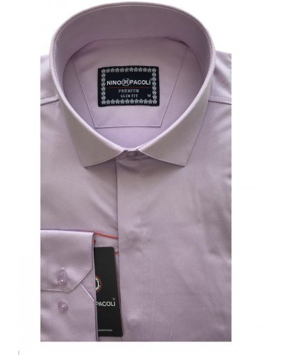Мужская рубашка длинный рукав NINO PACOLI 7045CR_SATIN(6) ТУРЦИЯ
