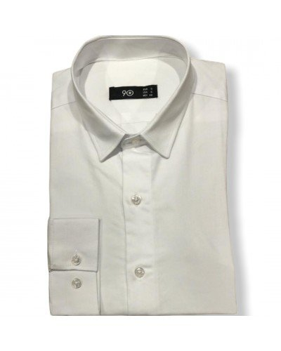 Мужская рубашка длинный рукав PLUSNINETY PN7073-W ТУРЦИЯ