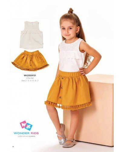 Комплект 2-ка на девочку WONDER KIDS 4131 ТУРЦИЯ