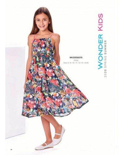 Платье на девочку WONDER KIDS 6315 ТУРЦИЯ