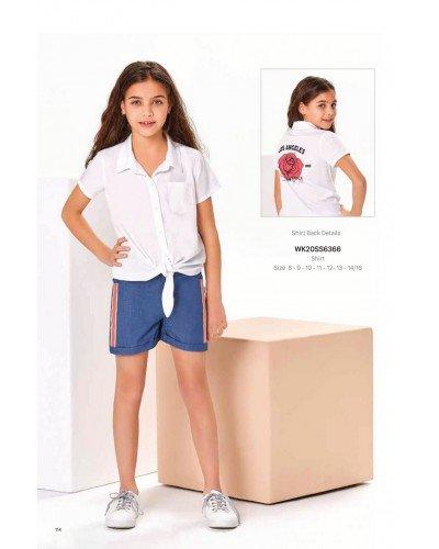 Рубашка на девочку WONDER KIDS 6366 ТУРЦИЯ