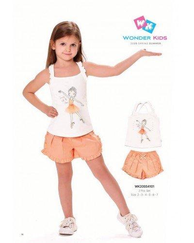 Комплект 2-ка на девочку WONDER KIDS 4101 ТУРЦИЯ