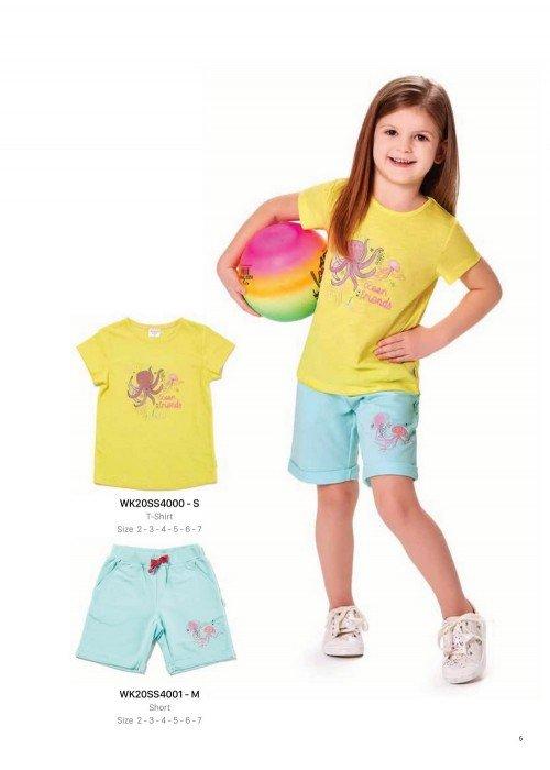 Футболка на девочку WONDER KIDS 4000-S ТУРЦИЯ