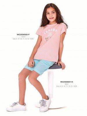 Футболка на девочку WONDER KIDS 6000-P ТУРЦИЯ