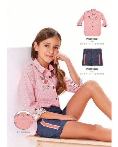 Рубашка на девочку WONDER KIDS 6324 ТУРЦИЯ