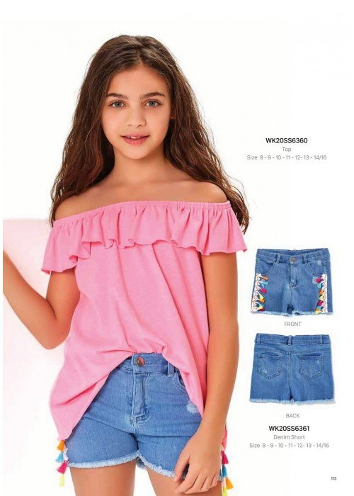 Блузка на девочку WONDER KIDS 6360 ТУРЦИЯ