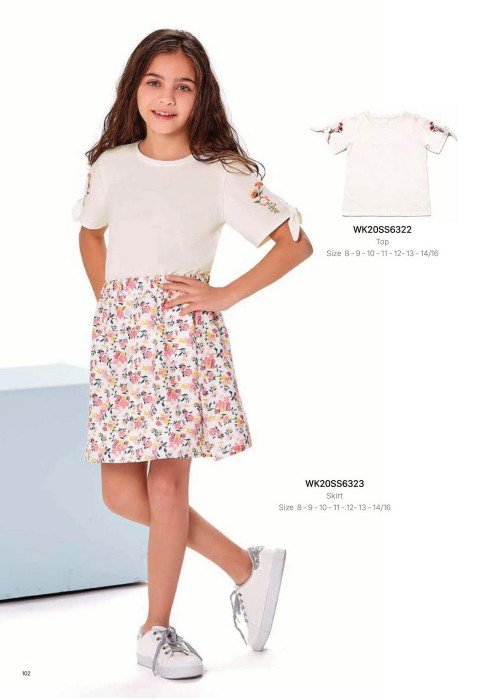 Юбка на девочку WONDER KIDS 6323 ТУРЦИЯ